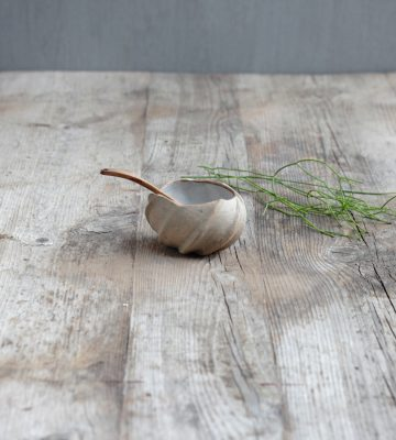 zen design lotus bowl clay& wood studio