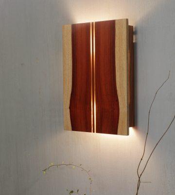 WOODEN WALL LIGHT. clay & wood studio