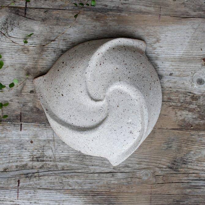 spiral zen bowl. clay & wood studio