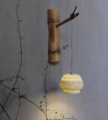 bamboo lighting. clay & wood studio