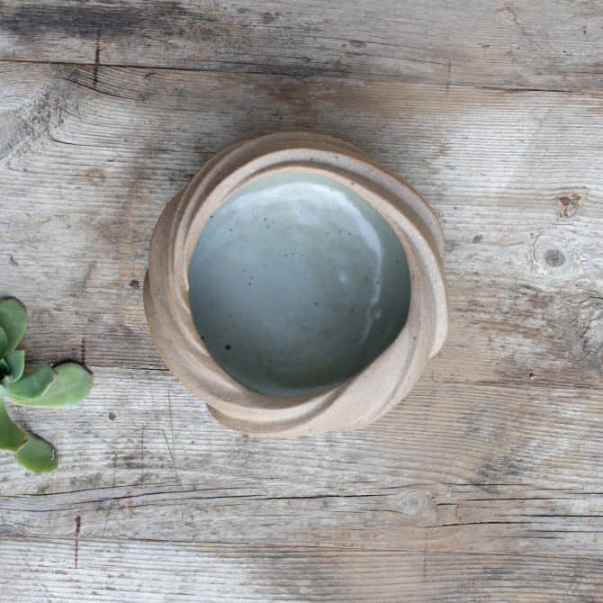 zen inspired lotus bowl clay& wood studio