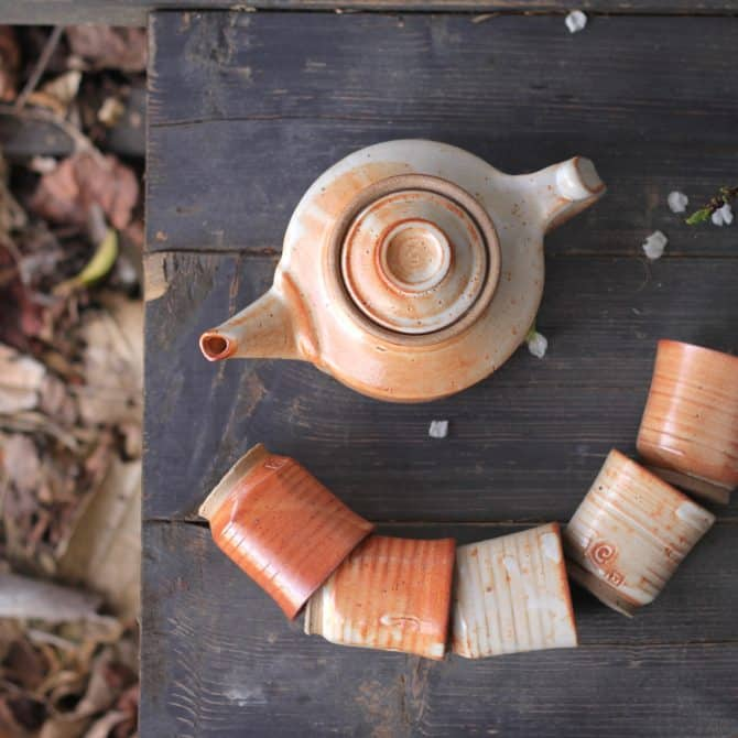 DESERT DUNES TEA SET. clay & wood studio
