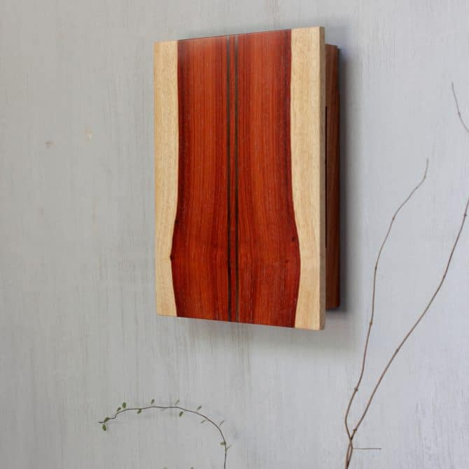 WOODEN WALL LIGHT. clay & wood studio