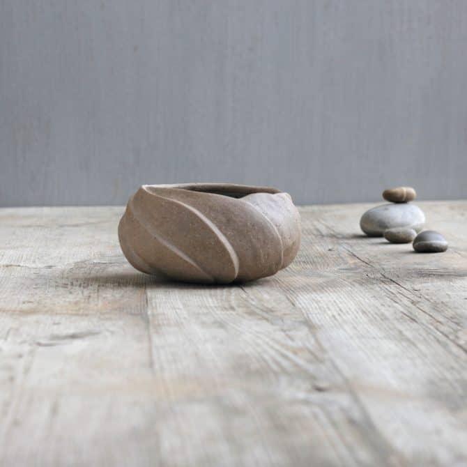 zen inspired lotus bowl clay & wood studio
