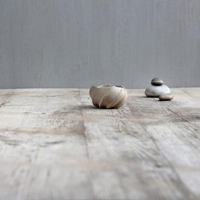 zen inspired lotus bowl clay & wood studio