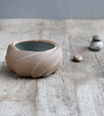 zen inspired lotus bowl clay& wood studio