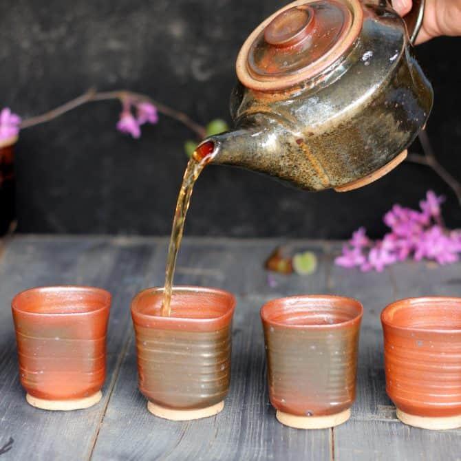 zen tea set. clay & wood studio