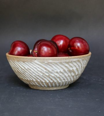 Decorative Bowl. clay and wood studio