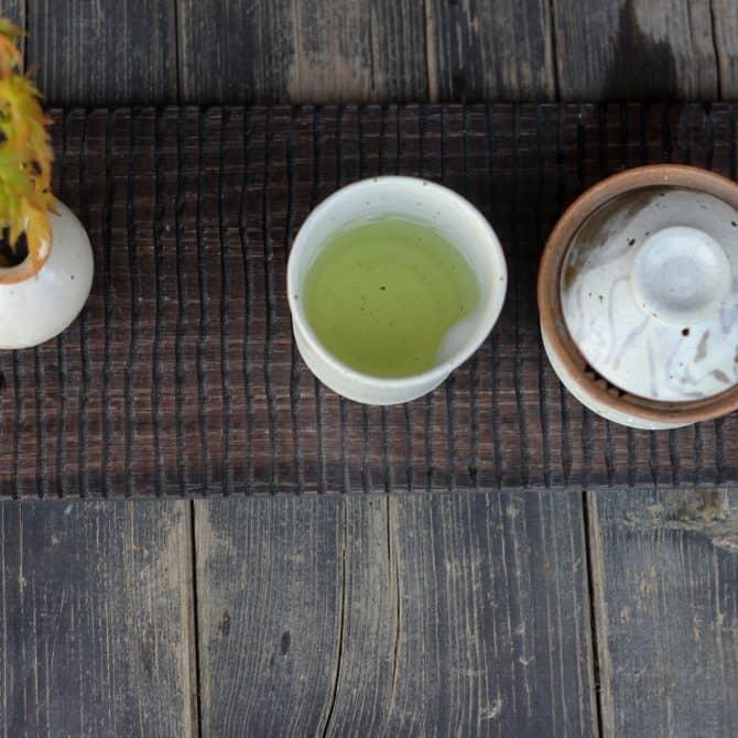 Zen cat tea set. clay & wood studio