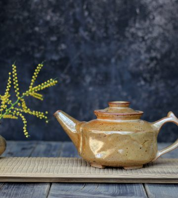 green tea set clay& wood studio
