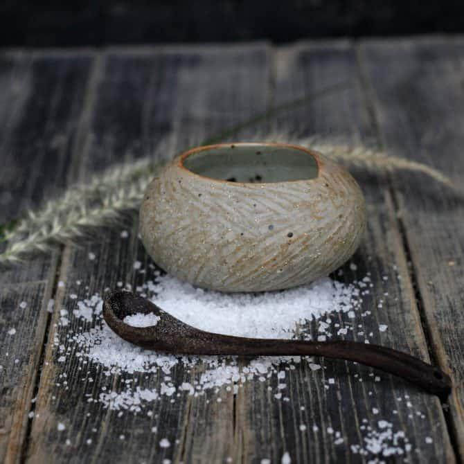 Salt Cellar with Spoon