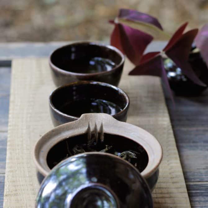 Japanese Tea Ceremony Set tenmoku glaze