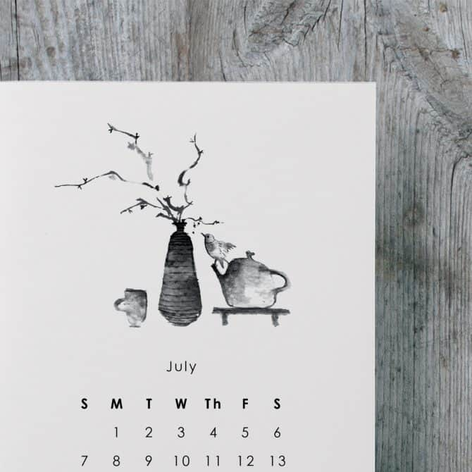 desk calendar. clay&wood studio